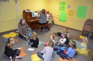 Children's choir practice